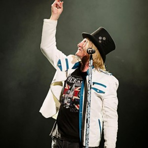 Joe Elliott in the Union Jack Ocean Anarchy design, Photo By Ross Halfin