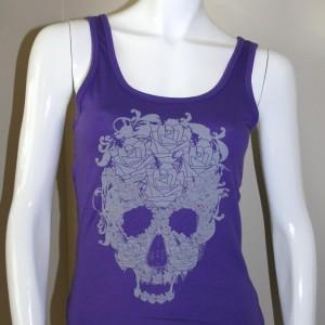ICJUK Skull & Roses Purple Jersey Tank