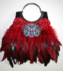Red Rock & Roll evening handbag