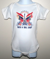 White ICJUK Guitar Wings Baby Onesie