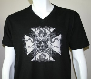 SLow Ride Vintage Black V Neck tee shirt