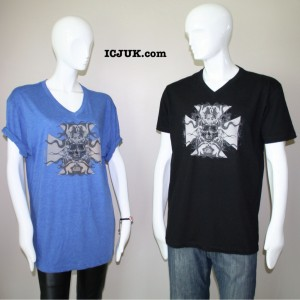 Slow Ride Blue and Black Tee Shirt