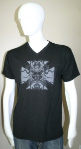 SLow Ride Vintage Black V Neck tee shirt