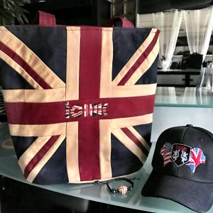 Bundle Package ICJUK Quality Handmade Tote + Union Jane Baseball Cap + Rhinestone bracelet