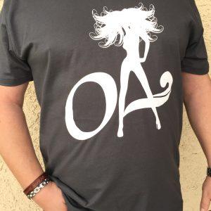OA Beach Babe Logo Heavy Metal unisex V neck or Crew neck shirt
