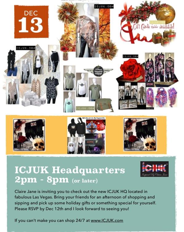 ICJUK HQ Open House Invite