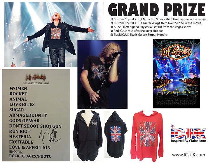 Viva! Hysteria Joe Elliott ICJUK Swag Contest Grand Prize