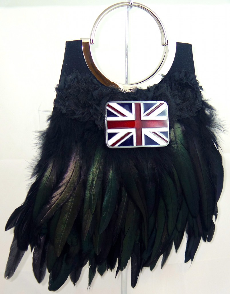 feathered couture handbag