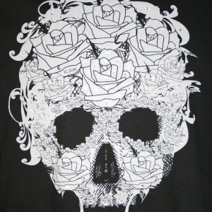 ICJUK's Skull and Roses design