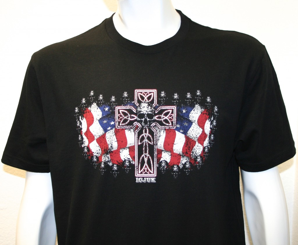 USA Cross & Skull design from ICJUK