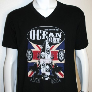 Ocean Anarchy By ICJUK Unisex Black V Or Crew Neck