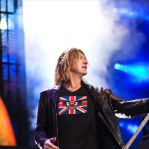 Joe Elliott in the Union Jack & Skull & Wings
