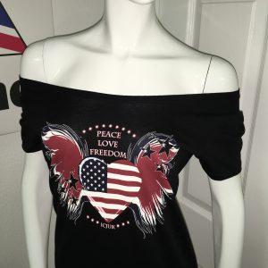 USA Heart & Wings Peace Love Freedom