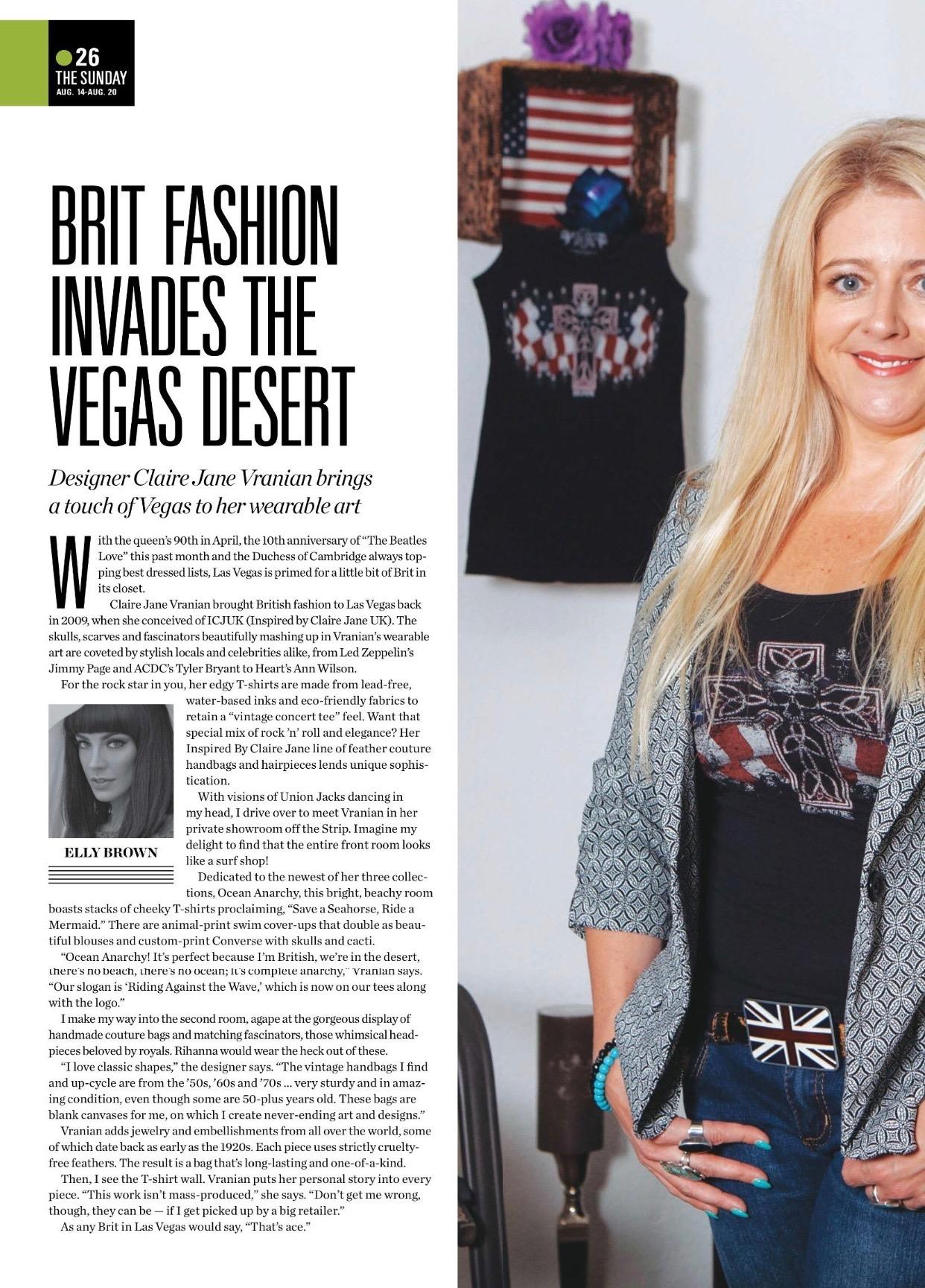 Claire Jane 2016 Las Vegas Sunday Magazine