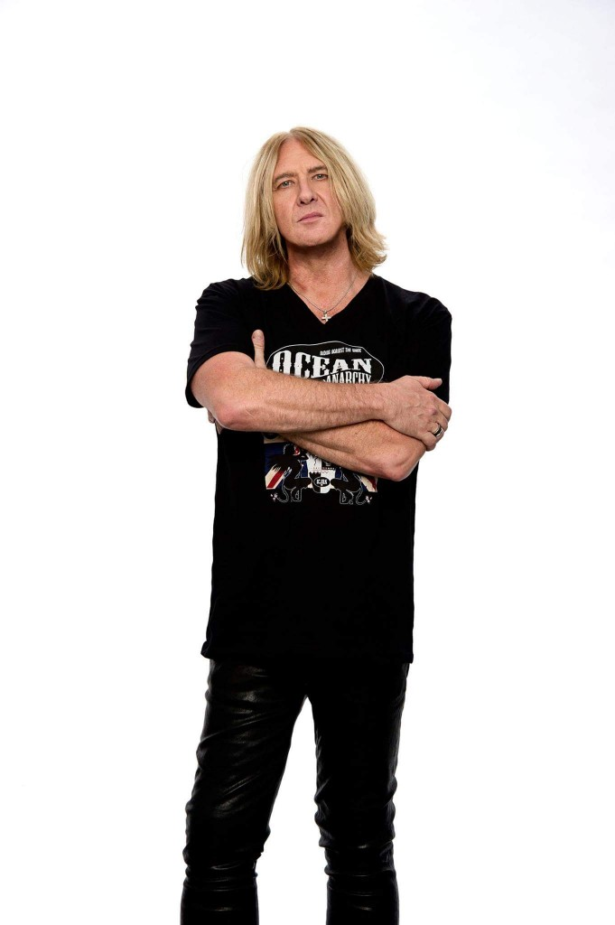Joe Elliott from Def Leppard rocking the Ocean Anarchy Design. Photo by Ross Halfin.