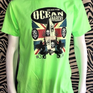 Neon Green Ocean Anarchy Unisex Crew neck tee