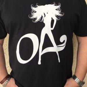 OA Beach Babe Logo Black unisex V neck or Crew neck shirt