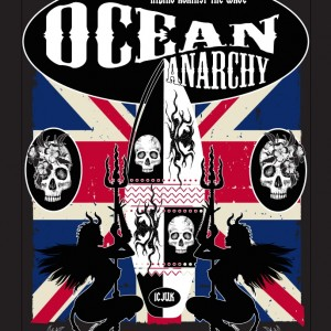 ICJUK's Ocean Anarchy design with British Flag background