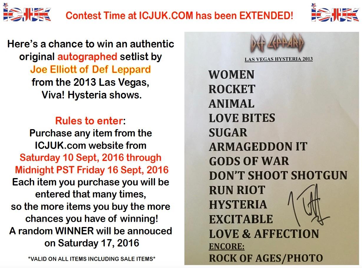 setlist contest
