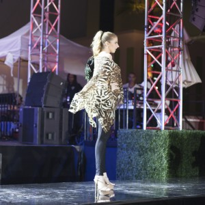 Handmade Leopard Print Runway Fashion