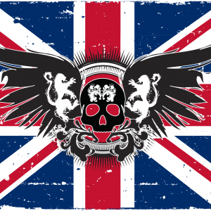 UNION JACK SKULL WINGS