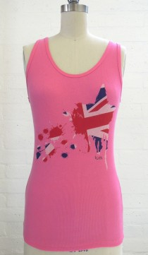 Bubble Gum Pink Exploding Union Jack Star