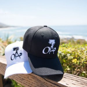 OA (Ocean Anarchy) logo baseball cap available in Black and white - click on image to purchase