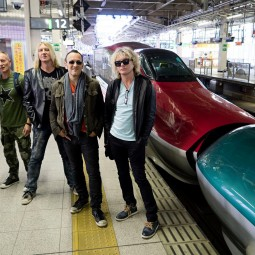 Def Leppard caught the bullet train from Tokyo to Sendai Japan