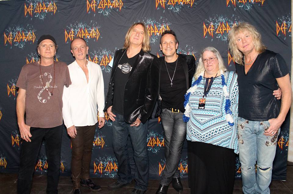 Tank you Juanita Roberts for sharing this fab photo with us from your Def Leppard meet & greet, Joe is wearing the ICJUK Attitude design