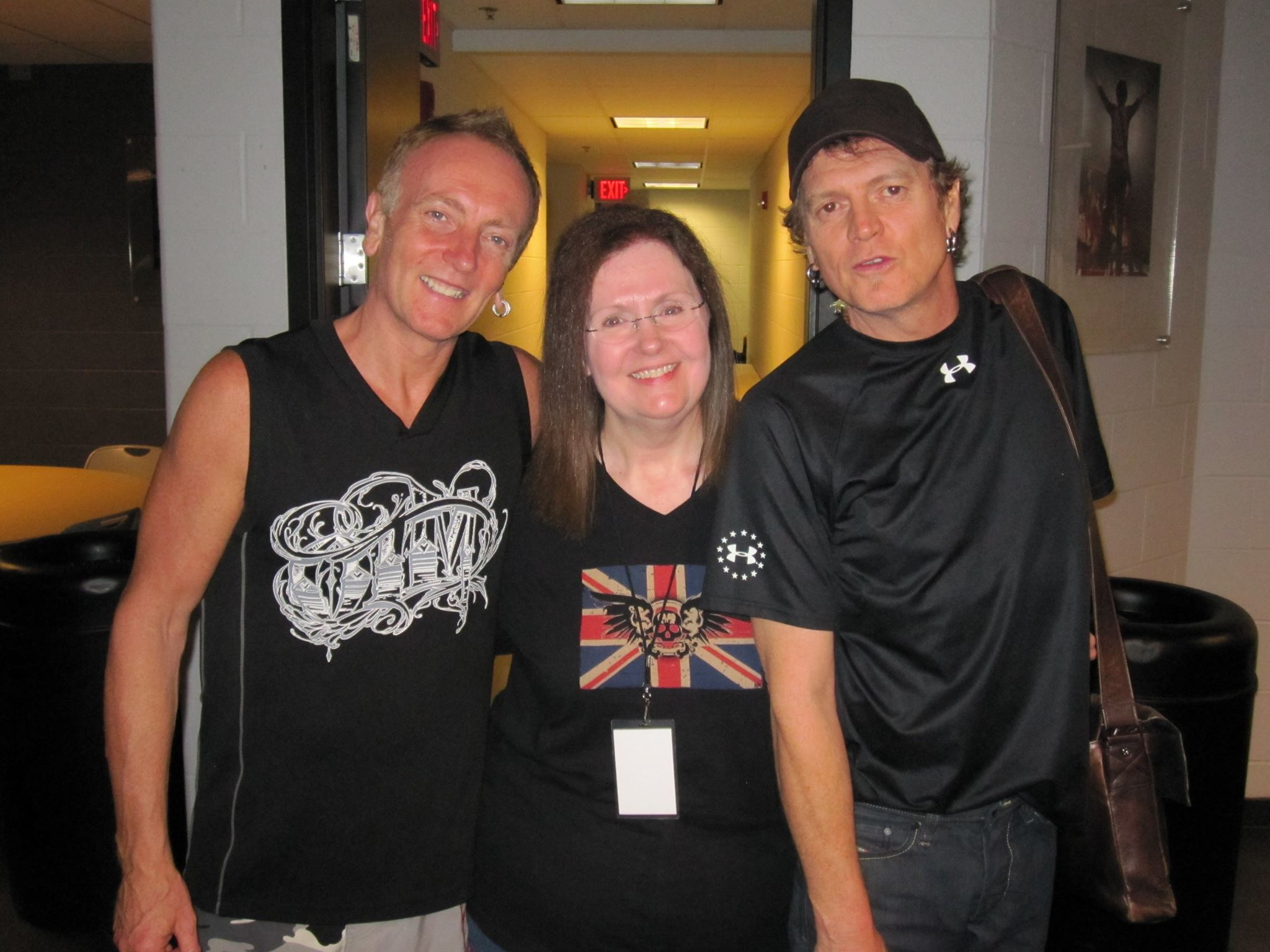 Def leppard meet greets with icjuk designs backstage at att center in san antonio texas september 24th 2011 kristyandbryce Choice Image
