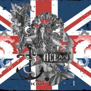 Ocean Anarchy Union Jack Mermaid Throne