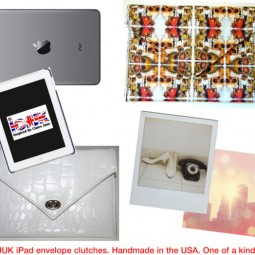 One of a kind iPad envelope clutches. Handmade in the USA.