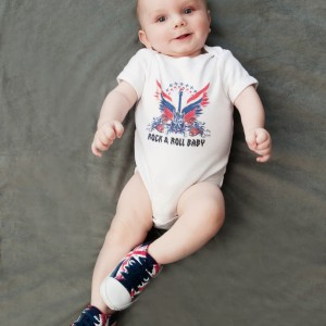 Connor Guitar Wings Onesie - Baby Shoes