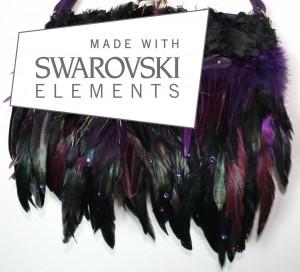 Purple suede swarovski crystals