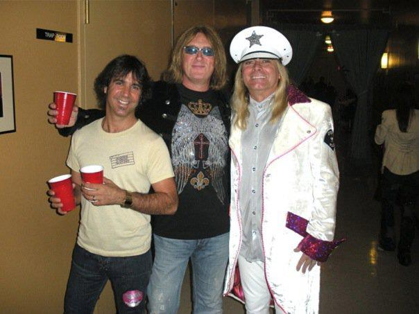 Joe Elliott ICJUK Crystal Tee with Robin Zander