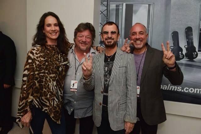 Leslie Zelisko Ringo Starr ICJUK Sheer Leopard Print Top