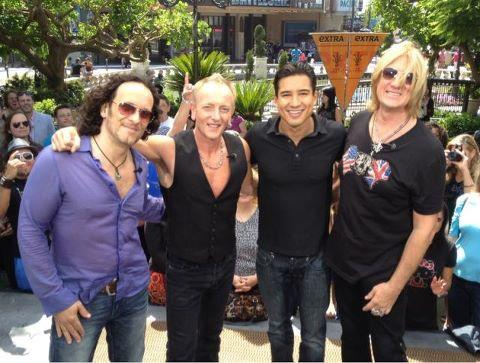 Mario Lopez and Def Leppard ICJUK