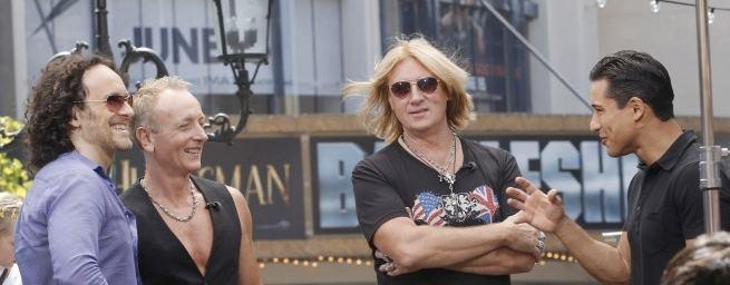 Mario Lopez and Joe Elliott Union Jane ICJUK