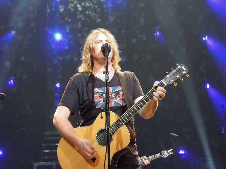 Union Jack and Skull Tee on Joe Elliott