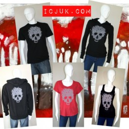 Skull & roses by ICJUK