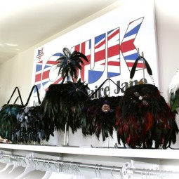 custom feathered handbag line ICJUK