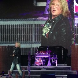 Its Only Rock and Roll But I like It design on Joe Elliott during Summer Tour 2014