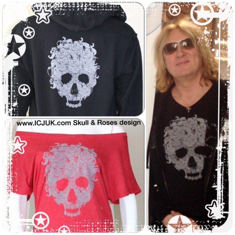 Skull & Roses with Swarovski Option