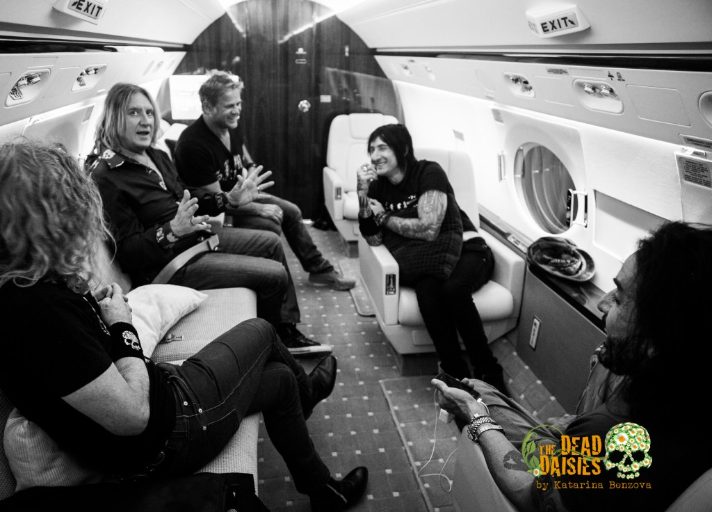 Joe Elliott With The Dead Daisies On Their Private Jet