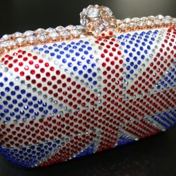 Shop to Win a Fab Rhinestone Union Jack Clutch