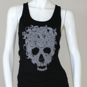 skull and roses tank top