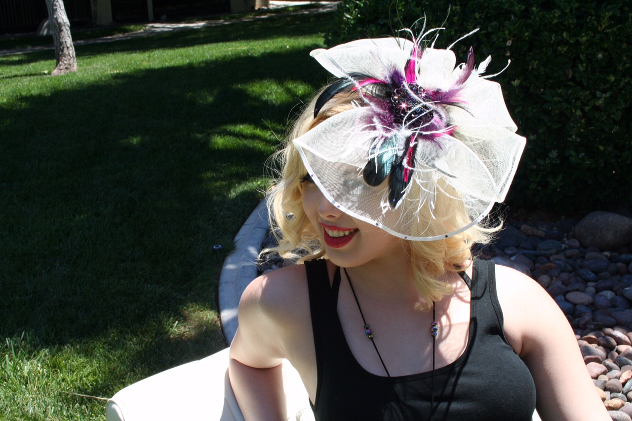 One of a kind hair fascinator Hat