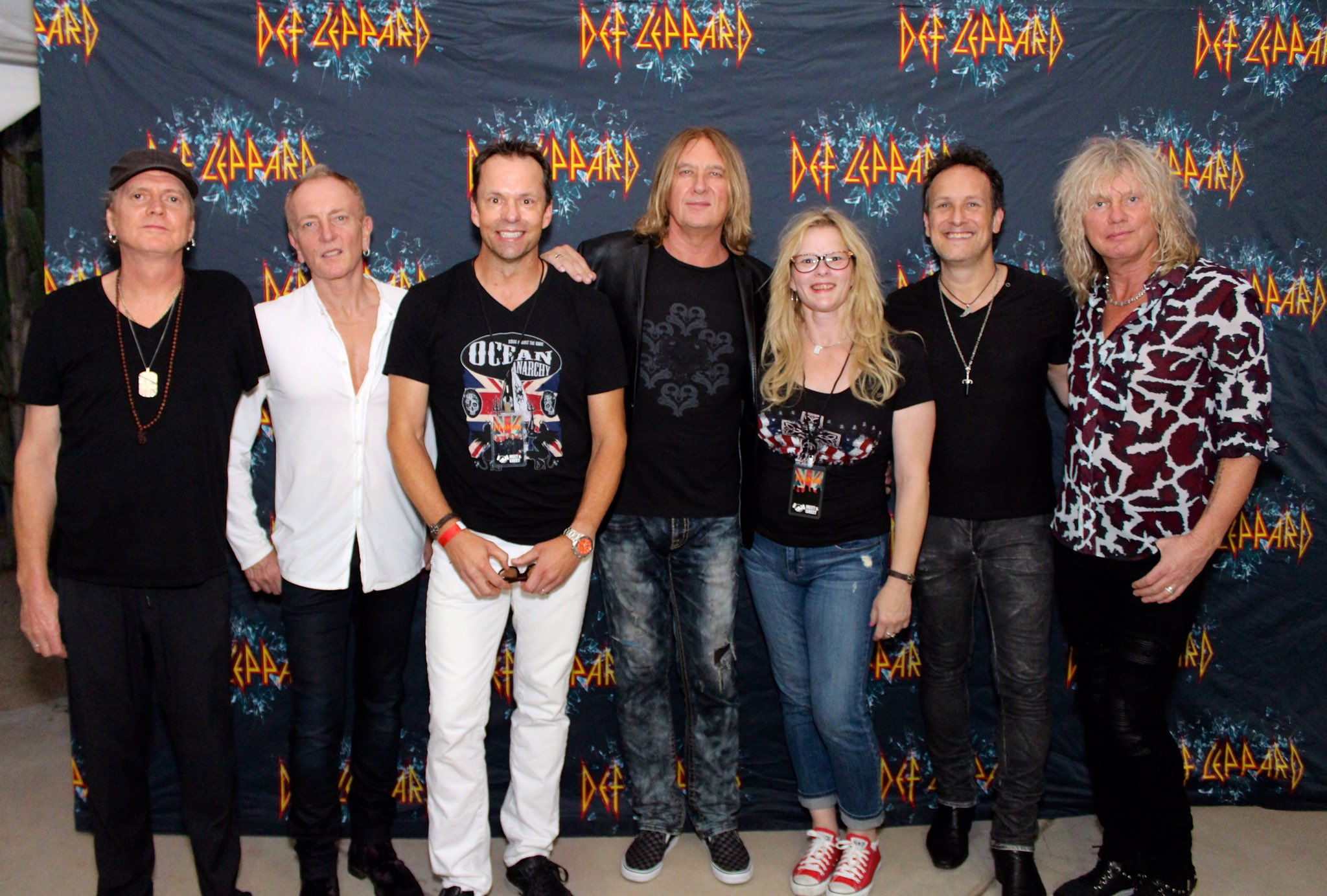 Def leppard meet greets with icjuk designs chrissy cooper and her brother gary rocking their icjuk shirts kristyandbryce Choice Image