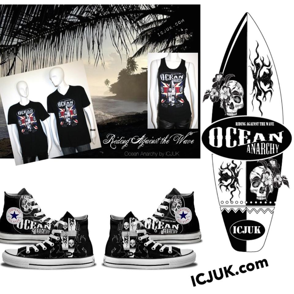Custom Ocean Anarchy Converse