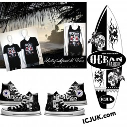Custom Ocean Anarchy Converse